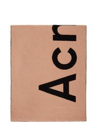 Acne Studios Pink And Black Toronty Scarf