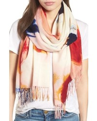 Nordstrom Tissue Print Wool Cashmere Wrap Scarf