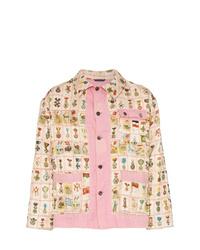 Bode Cigar Label Patchwork Cotton Jacket