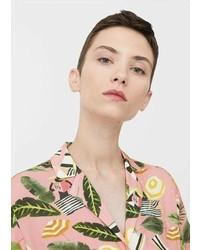 Mango Tropical Print Shirt
