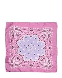 Etro printed silk satin pocket square medium 31262