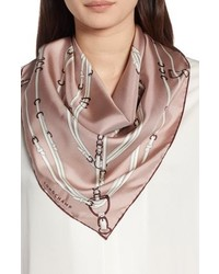 Longchamp Belt Print Silk Scarf
