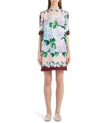 Dolcegabbana hydrangea print silk shift dress medium 3731325