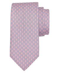 Salvatore Ferragamo Gancio Print Silk Tie