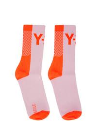 Y-3 Orange Logo Socks