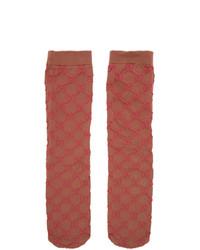 Gucci Pink Gg Monogram Socks