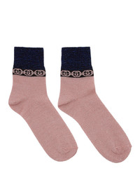 Gucci Pink Interlocking G Socks