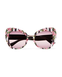Dolce & Gabbana Cat Eye Printed Acetate Sunglasses