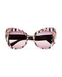 42f3e2e1938f Dolce   Gabbana Cat Eye Printed Acetate Sunglasses