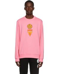 Burberry Pink Badge Appliqu Sweatshirt
