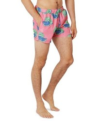 Topman Watermelon Print Swim Trunks