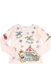 Dolce & Gabbana Alice In Wonderland Print Jersey T Shirt