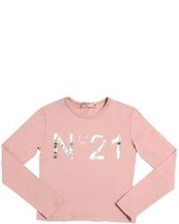 N°21 Logo Printed Cotton Jersey T Shirt
