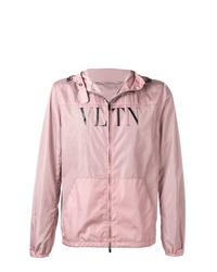 Valentino Vltn Printed Hooded Jacket