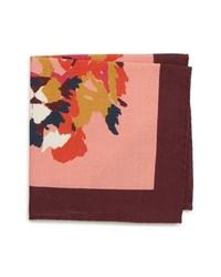 Bonobos Lion Print Wool Blend Pocket Square