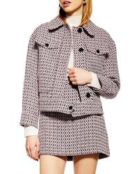 Topshop Dixie Textured Boucle Jacket