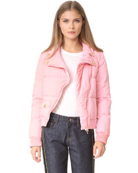 Moschino Boutique Cropped Moto Puffer Jacket