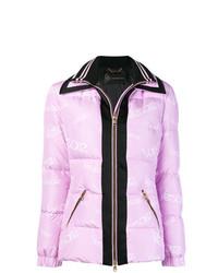 Versace Logo Zipped Padded Jacket