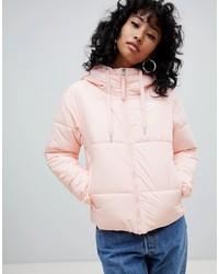 Nike Pink Small Logo Padded Jacket