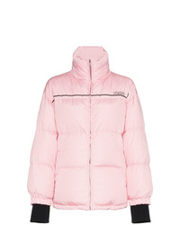 Prada Puffer Jacket With Logo Strap