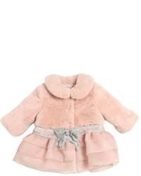 Miss Blumarine Quilted Faux Fur Coat