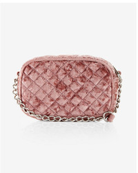 Express Mini Quilted Velvet Camera Bag