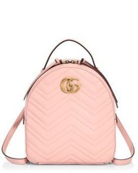 Gucci Gg Marmont Chevron Quilted Leather Mini Backpack