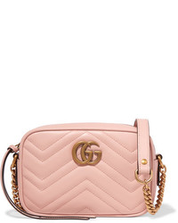 Gg marmont camera mini quilted leather shoulder bag baby pink medium 5083163