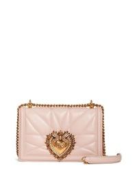 Dolce & Gabbana Medium Devotion Leather Shoulder Bag