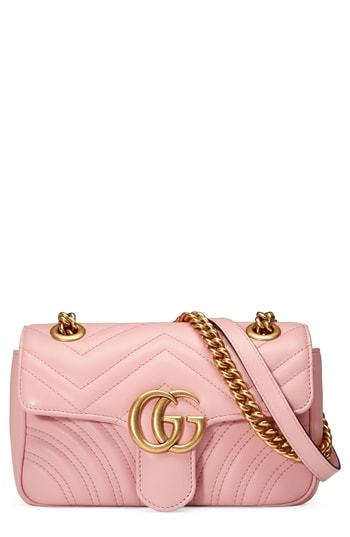 d4c02c85a ... Pink Quilted Leather Crossbody Bags Gucci Mini Gg Marmont 20 Matelasse  Leather Shoulder Bag