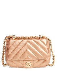 Quilted faux leather crossbody bag pink medium 1150966