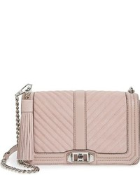 Rebecca Minkoff Quilted Love Suede Crossbody Bag With Tassel