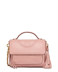 Tory Burch Fleming Quilted Leather Satchel