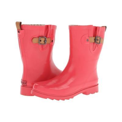 ... Chooka Top Solid Mid Gloss Rain Boots Poppy