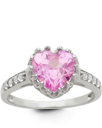 Fine Jewelry Lab Created Pink Sapphire Sterling Silver Ring