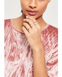 Missguided Rose Gold 4 Pack Stacking Ring Set