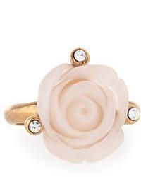 Oscar de la Renta Resin Rose Crystal Ring