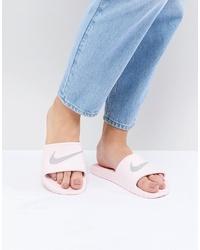 Nike Pink Kawa Swoosh Slider