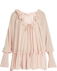 See by Chloe See By Chlo Ruffle Trimmed Gauze Jersey Blouse