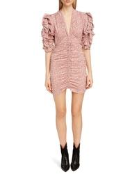 Isabel Marant Print Silk Puff Sleeve Dress