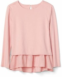 Gap Peplum Crewneck T Shirt