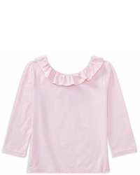 Ralph Lauren Polo Girls Ruffled Off The Shoulder Tee Big Kid