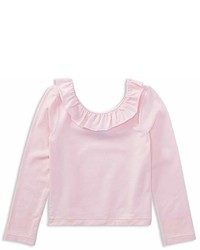 Ralph Lauren Polo Girls Ruffled Off The Shoulder Tee Little Kid