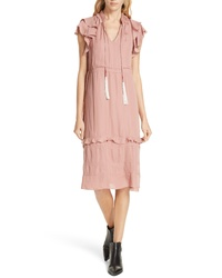Dolan Tassel Tie Midi Dress