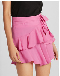High waisted ruffle mini skirt medium 5219542