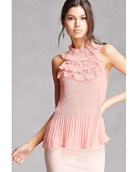 Forever 21 Accordion Ruffle Halter Top