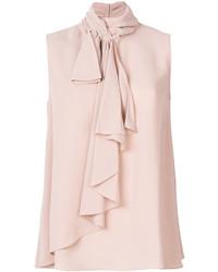 Ruffled sleeveless blouse medium 6717018