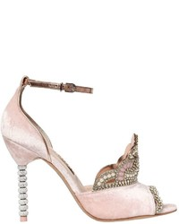 Sophia Webster 100mm Royalty Crystal Velvet Sandals