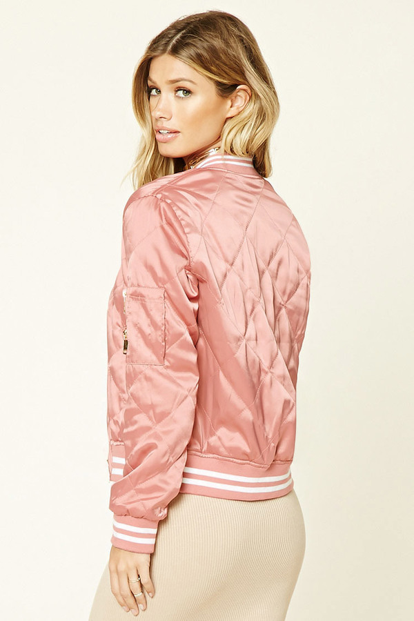 5fa02f335 Twelve Quilted Satin Bomber Jacket