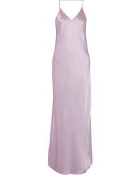 Helmut Lang Med Satin Maxi Dress